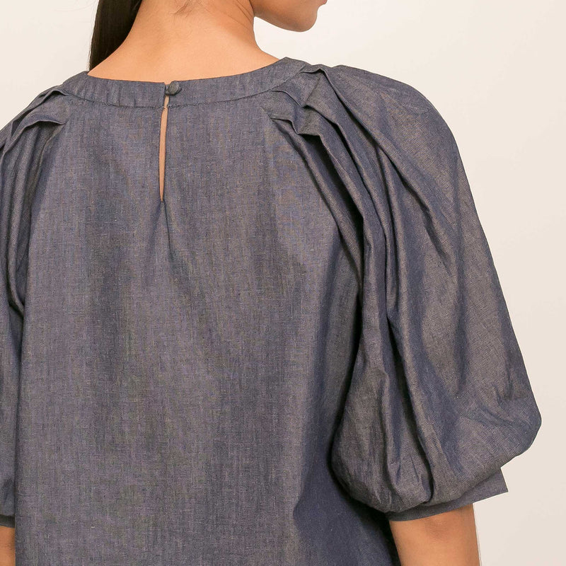 Canvas Lagritte Top in Chambray