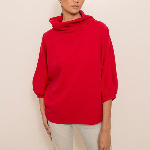 Canvas Louise Top in Red