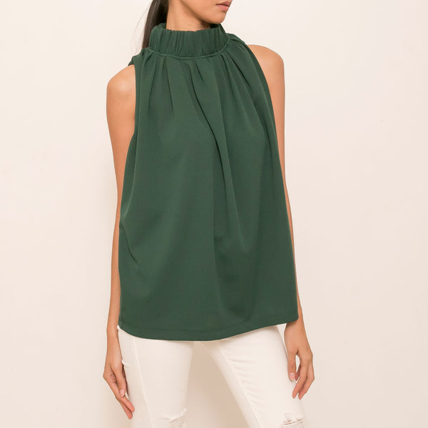 Maia Top in Dark Emerald