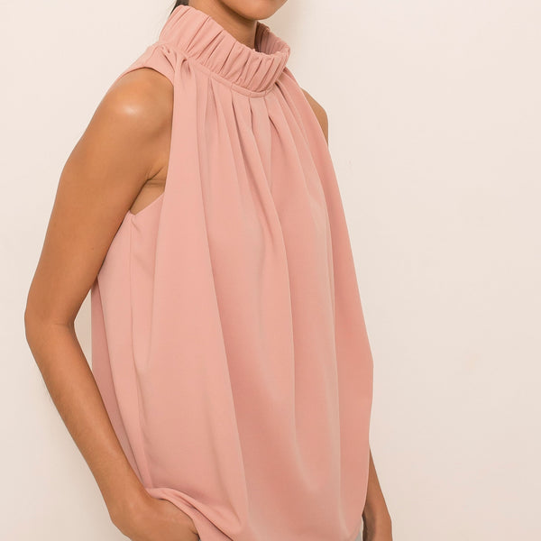 Maia Top in Mauve Rose