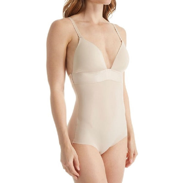 Maidenform Endless Smooth Plunge Body Briefer Latte