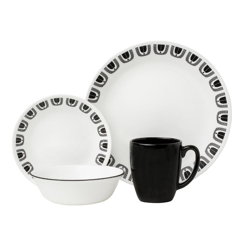 Corelle Livingware 16-pc. Set in Black Night design
