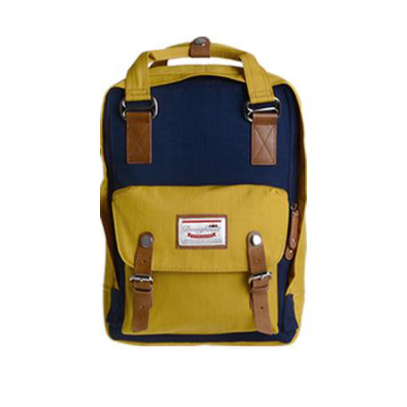 Doughnut Macaroon Backpack in Navy x Mustard