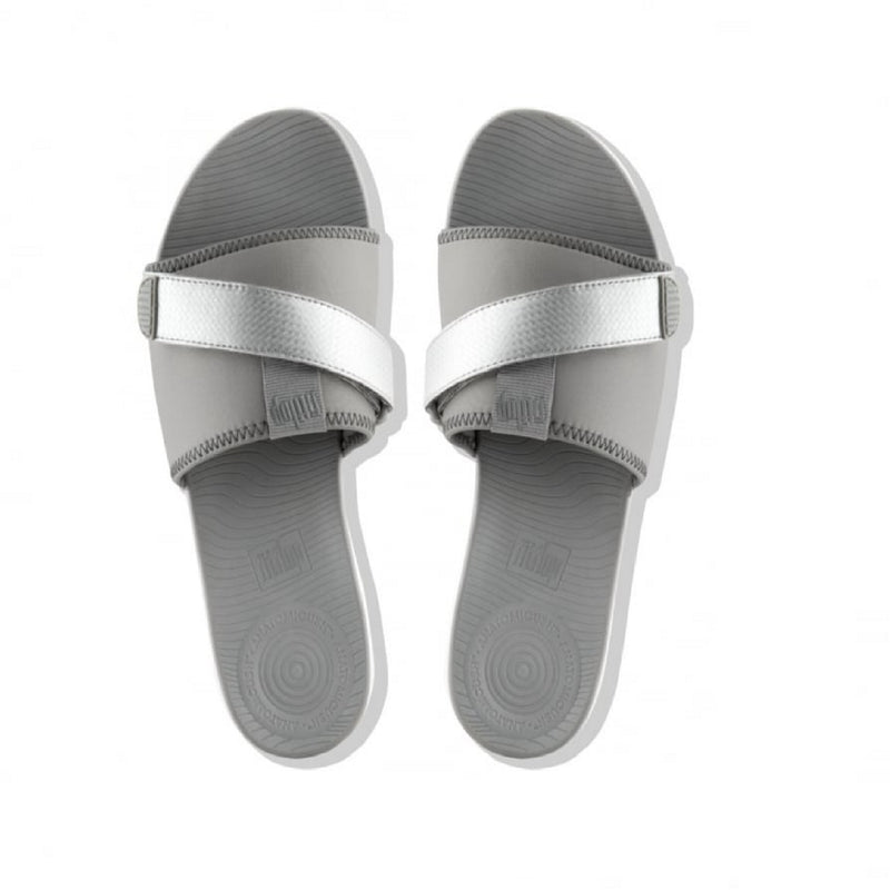 FitFlop Neoflex Slide Soft Gray/Silver