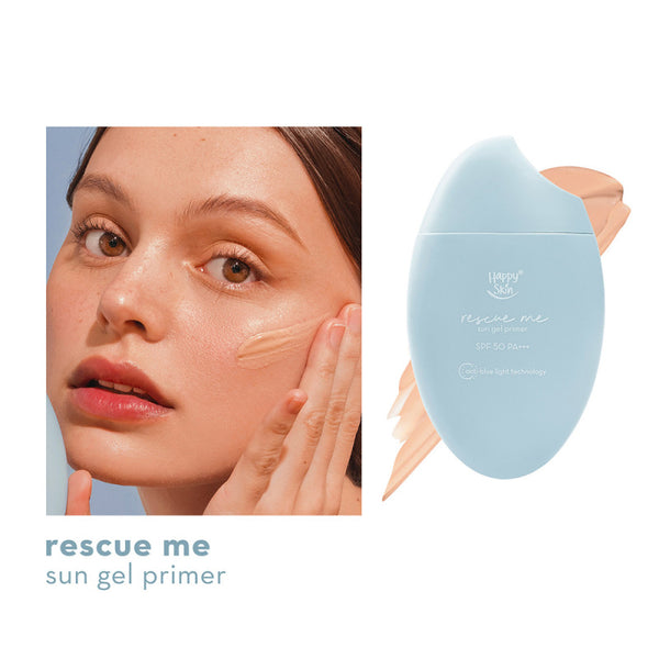 Happy Skin Rescue Me Sun Gel Primer SPF 50 PA+++ With Anti-Blue Light Technology