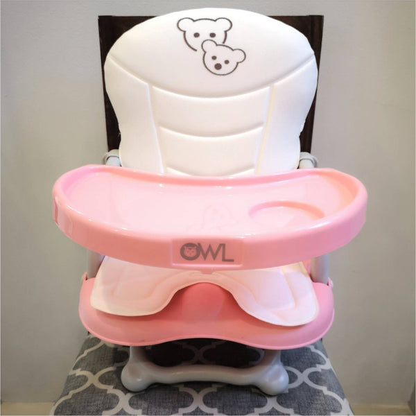 Owl Baby High Chair Converter and Travel Booster Seat with Tray
