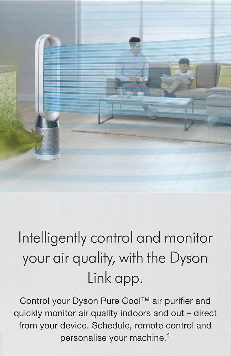 Dyson Pure Cool™ DP04 purifying desk fan in Black