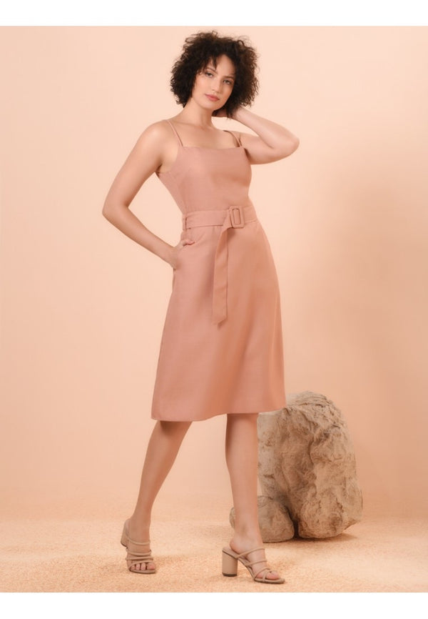 RAF Valor sleeveless dress in Blush