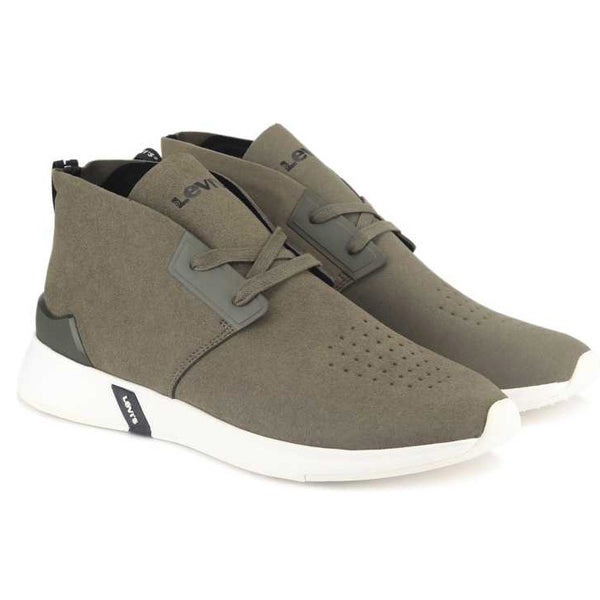 Levi's Men's Black Tab Dessert Hi-Cut | Dark Khaki/Black