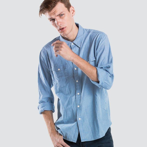 Levi's® Men's Modern Classic Western Shirt in Chambray