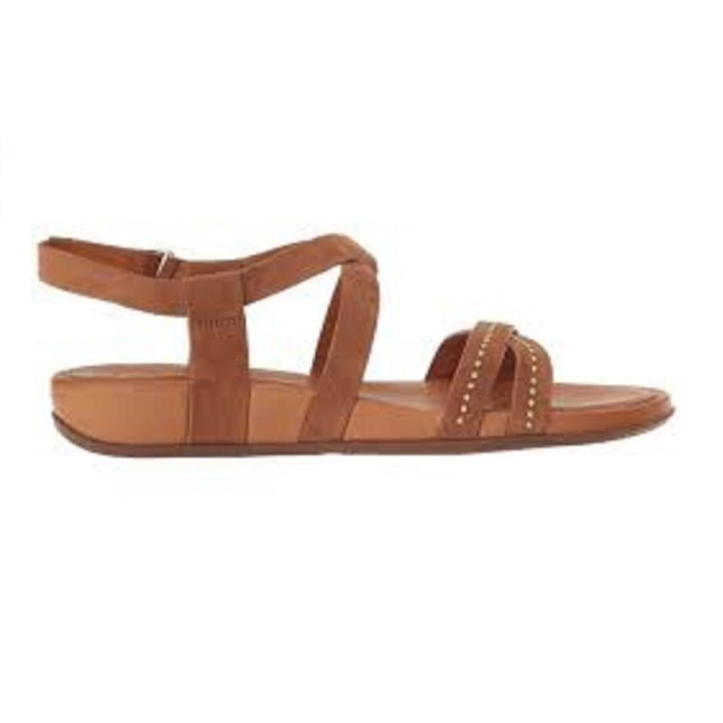 Fitflop Lumy Criss-Cross Sandal Studded Tan