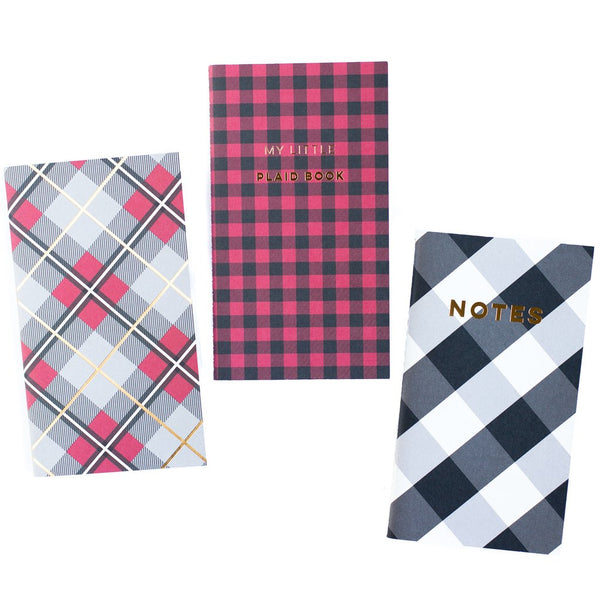 My Mind's Eye Plaid Mini Notebooks