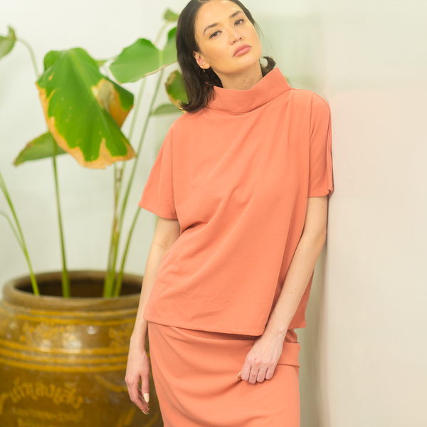 NEW! Canvas Ramona Top in Coral