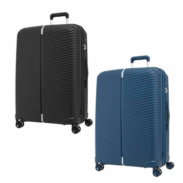 Samsonite Varro Spinner (55/68/75cm) in Black/Peacock Blue