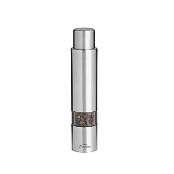 Trudeau Stainless Steel One-Hand Thumb 6-inch Pepper Mill