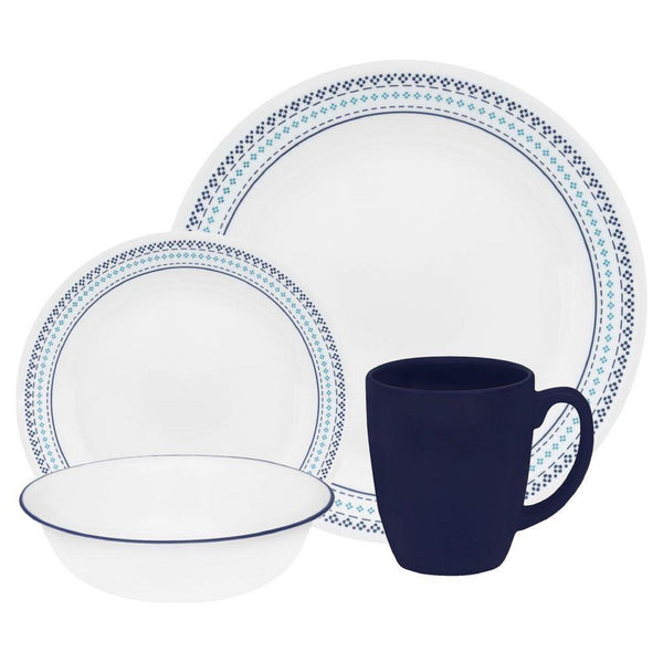 Corelle Livingware 16-pc. Set in Folk Stitch design