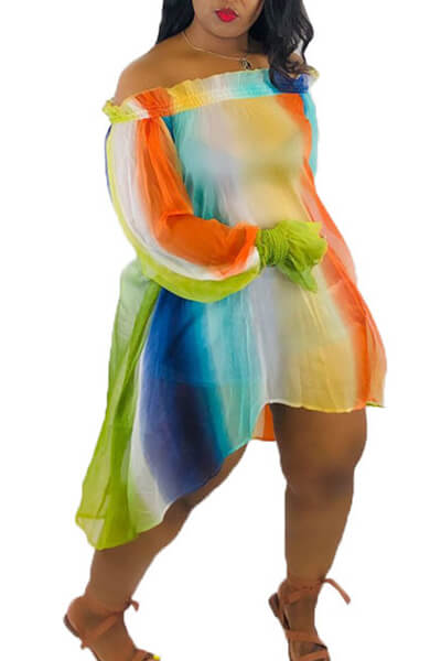 Colorful Irregular Dress