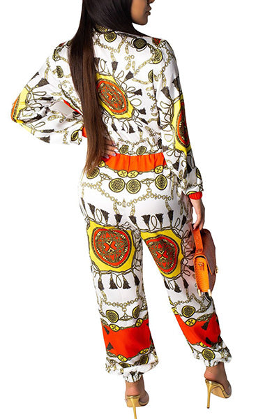 Fashion Printed Jumpsuit