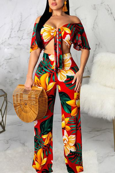 Printed Sexy 2PCS Suit