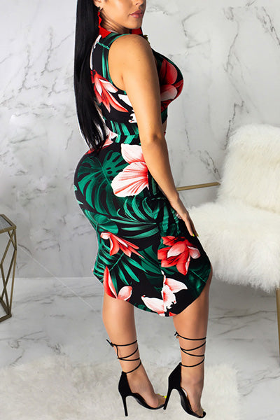 Sexy Printed Dress