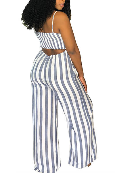 Striped Sling Jumpsuit
