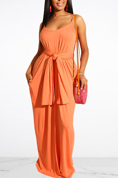 Sling Solid Color Dress