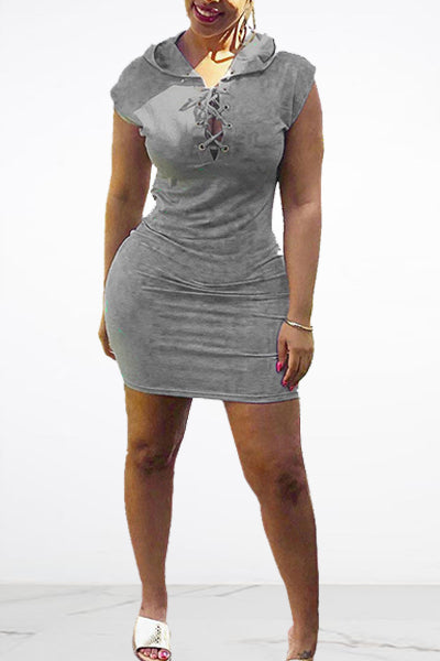 Sexy Grey Short Dress
