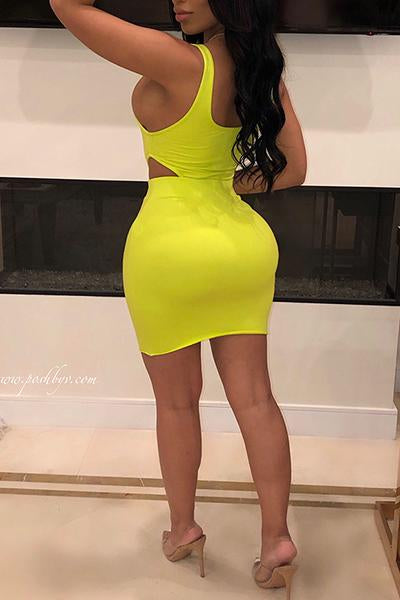Solid Color Sexy 2PCS Skirt