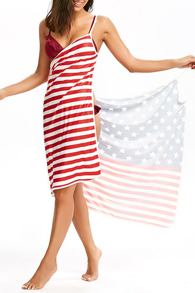 Flag Printed Beach Dress