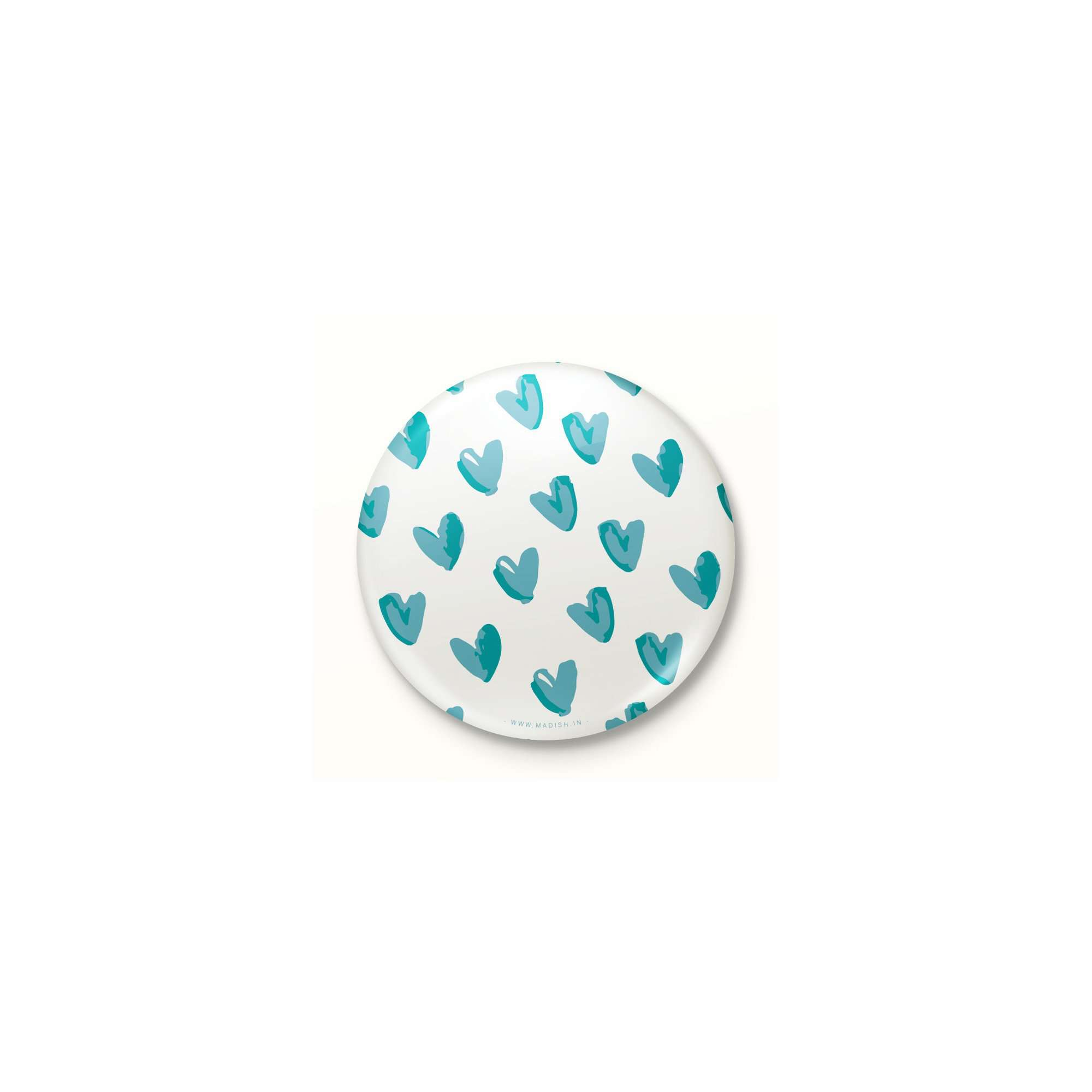 Blue Hearts Button Badge Accessories Madish