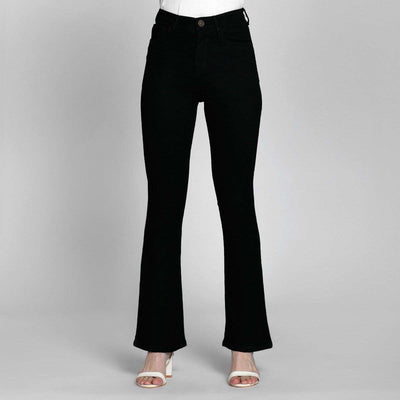 Boot Cut Black High Waist Jeans Jeans Madish