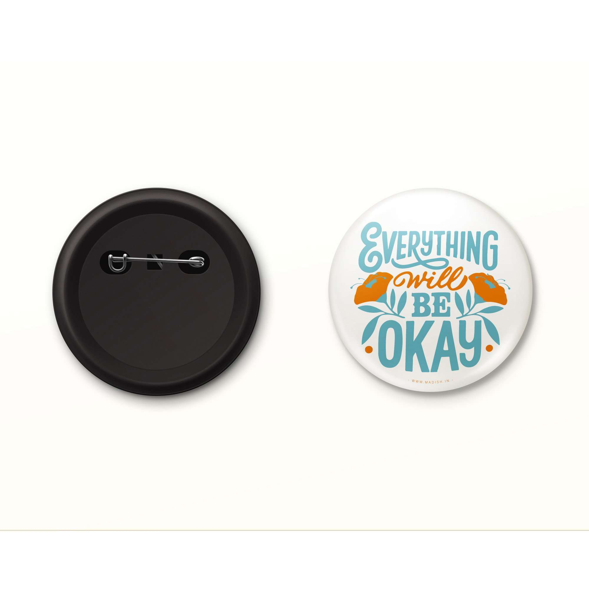 Everything will be Okay Button Badge Accessories Madish