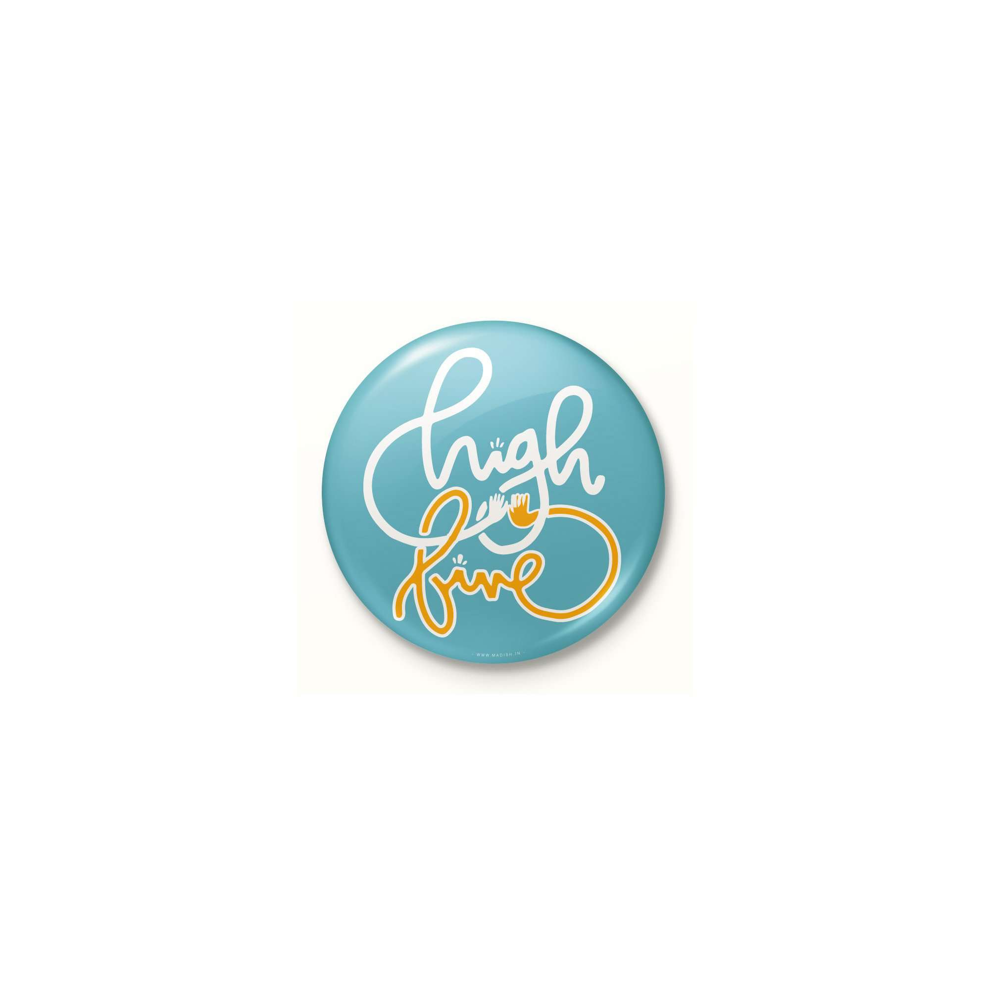 High Five Button Badge Accessories Madish