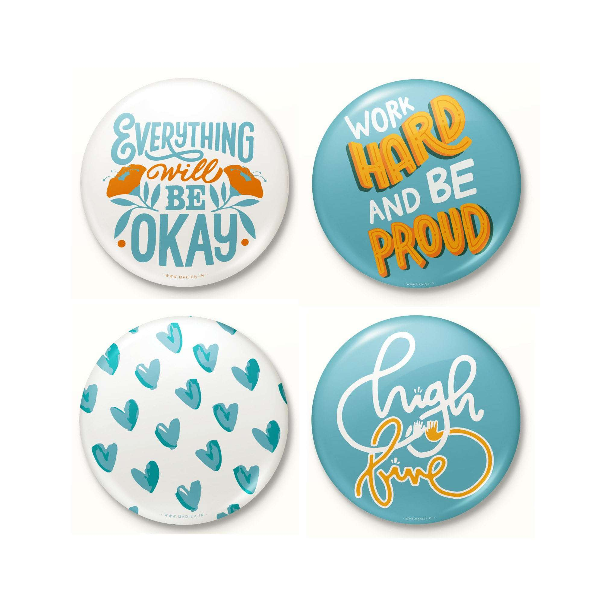 Monday Motivation Badge Set Accessories Madish