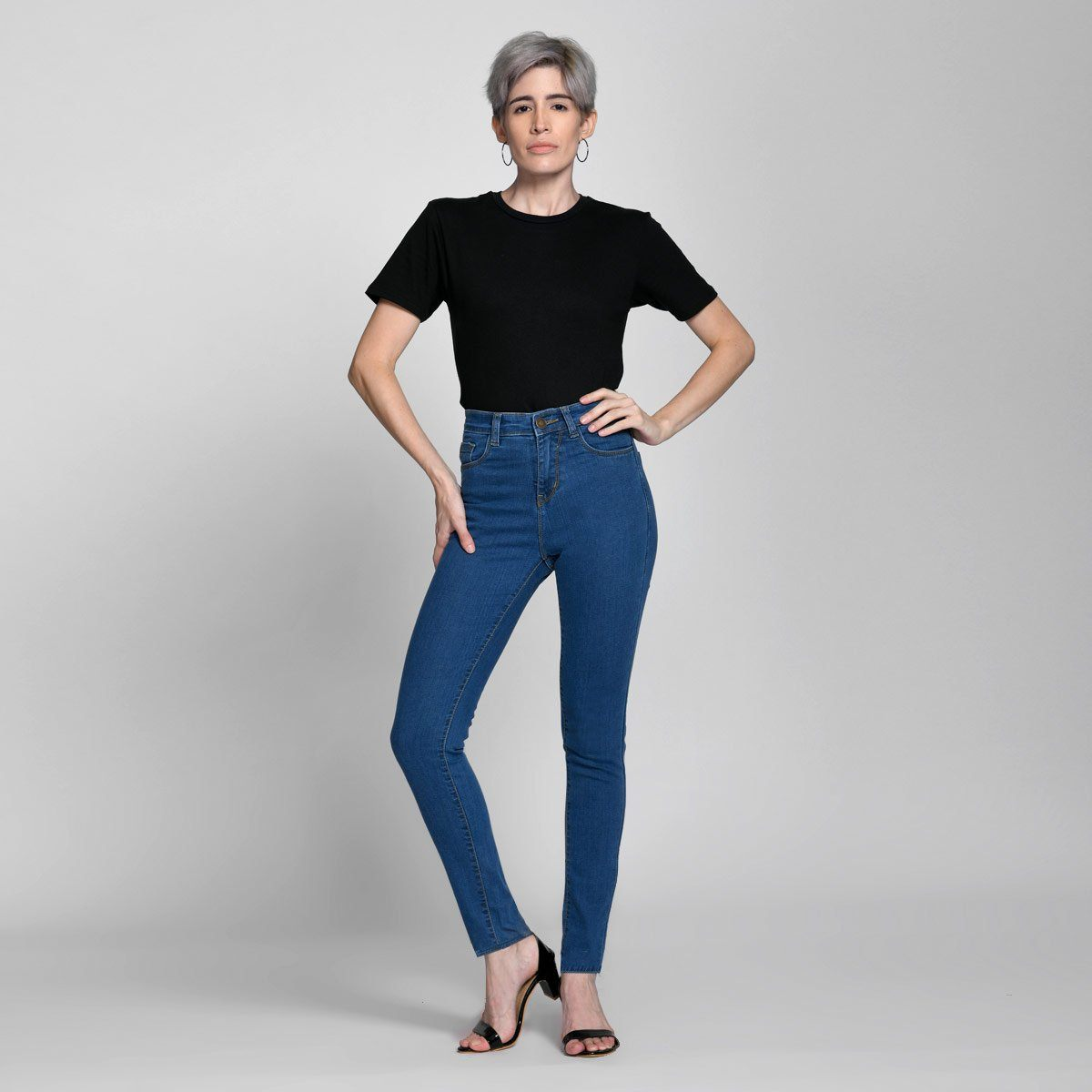 Skinny Original Blue High Waist Jeans Jeans by Madish