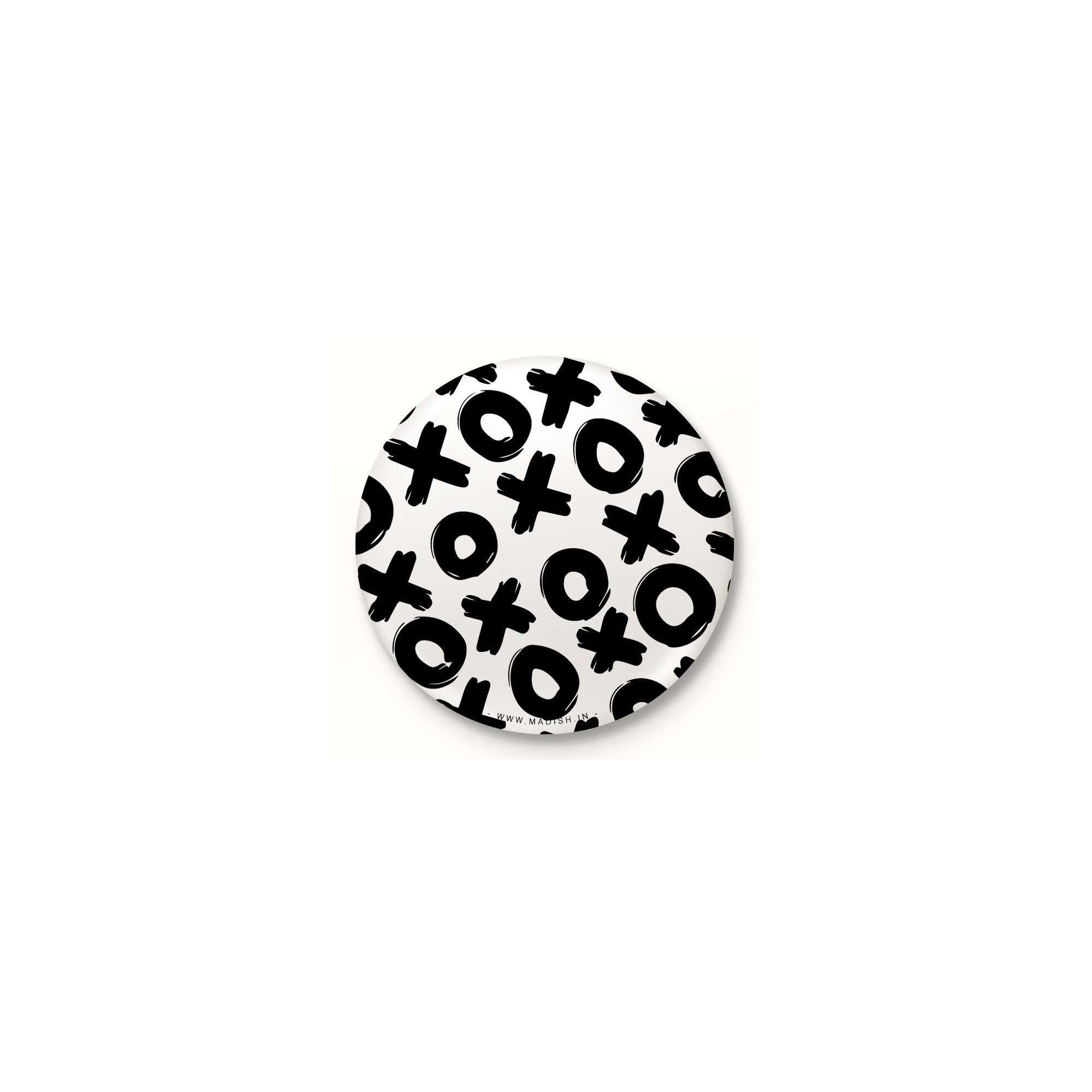 Tic Tac Toe Button Badge Accessories Madish