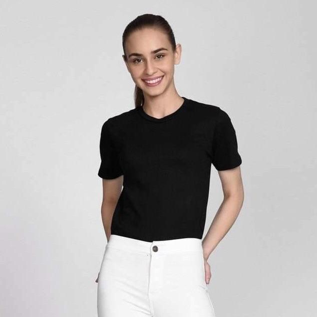 V-Neck Basic Tees Tops Madish