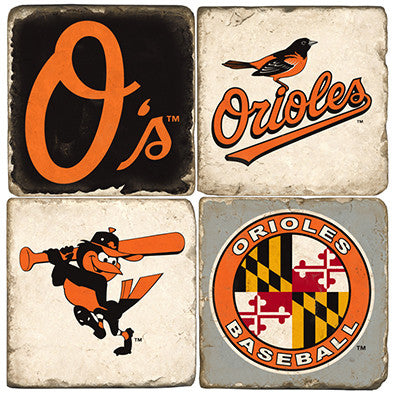 "Marble Coasters ""Baltimore Orioles"""