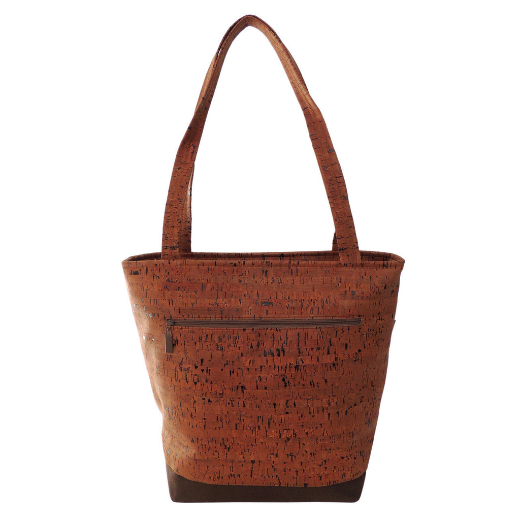 Classic Tote Bag in Brown Cork