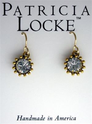 Cupcake Earrings Gold Crystal