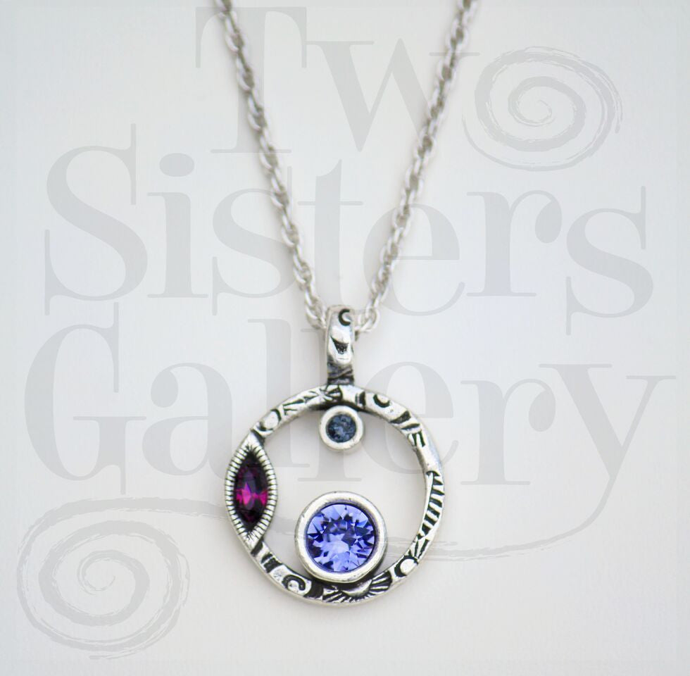Halley's Comet Pendant Necklace Purple Rain
