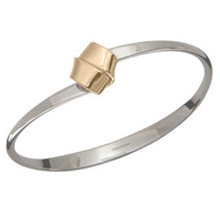 Love Knot Bracelet in Sterling Silver and 14k gold
