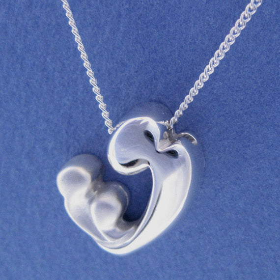 Mother and Children Pendant Necklace