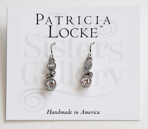 Cassie Earrings Silver Crystal