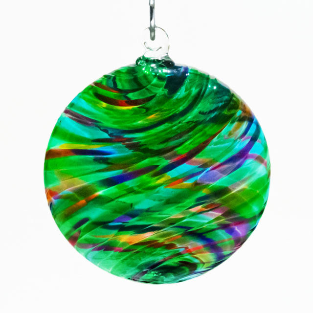 Sun Disk Blown Glass Ornament
