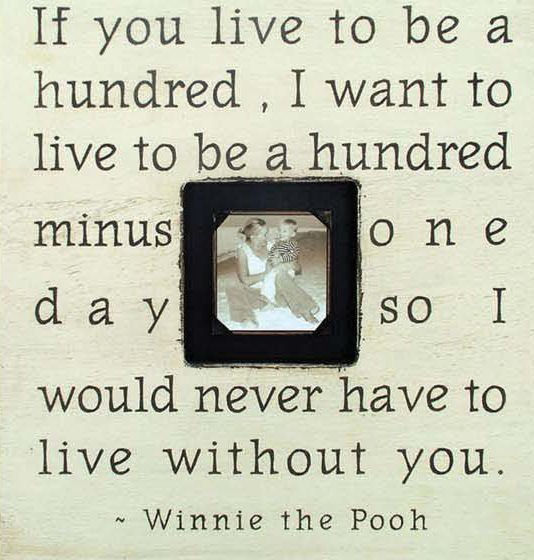 Quote Photo Frame - Pooh