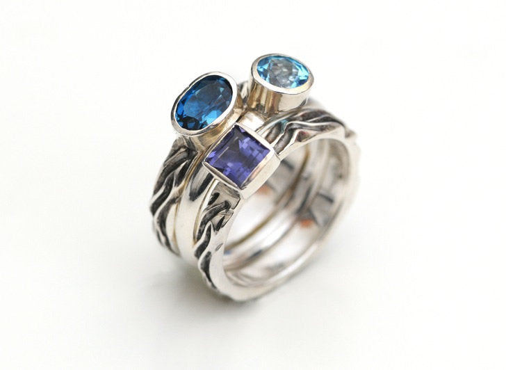 Blues Three Stack Ring