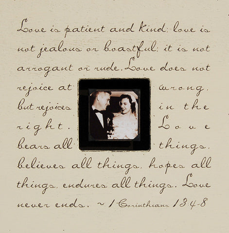 Quote Photo Frame - Corinthians