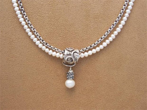 Pearl & Rolo Slide Necklace