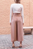 Dreamfitting Casual Loose Pink Belted Pants